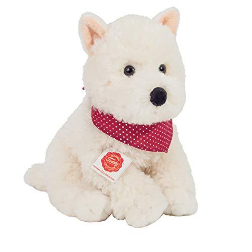 Teddy Hermann 91957 Hund Westhighland-Terrier sitzend 30 cm, Kuscheltier, Plüschtier