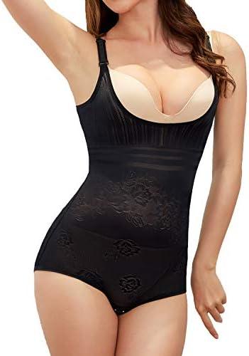Body Briefer Shapewear for Women Waist Cincher Body Shaper Bodysuit Jumpsuits Open Bust Slimmer product image