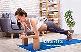 """VERGLEICHSSIEGER """"SEHR GUT"""" Note 1,12* – Yogablock Kork Set 2 – 100% Natur – Hatha Klotz Anfänger – Sport Meditiation Pilates Fitness Zubehör Hilfmittel Training, Zwei Stück Yoga Blocks 75 mm 2er Pack - 7"""