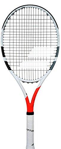 "Babolat Boost Strike Tennis Racquet (Strung), Grip Size - 43/8"" (White Red)"