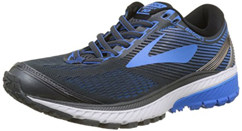 Men's Brooks Ghost 10 Running Shoe Ebony/Metallic...