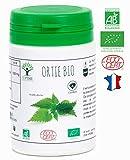Ortie bio   60 gélules   Complément alimentaire   Articulation Os Energie   Bioptimal nutrition naturelle   Fabriqué en France   Certifié par Ecocert   Satisfait ou Remboursé 30jrs