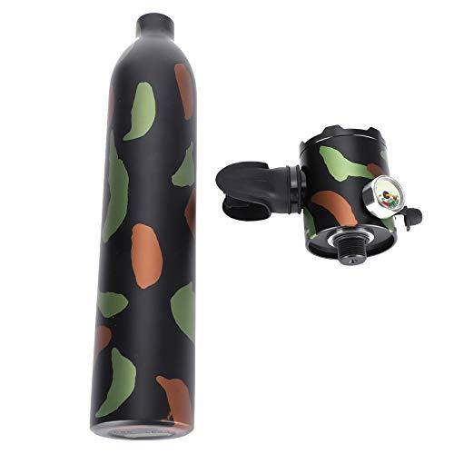 Alomejor Respirador de Buceo 0.5L Cilindro de oxígeno de Buceo de Gran Capacidad Respirador subacuático Botella de oxígeno de Buceo Buceo Equipo de respiración subacuático portátil