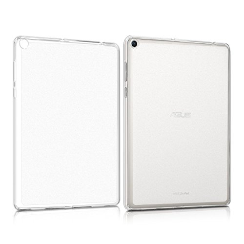 【万屋】ASUS ZenPad 10 (Z300CNL)・(Z300M)・(Z300CL) ケース シリカゲル素材 超薄 半透明 全面保護ケース(液晶部分除き) フロスティングデザイン 超軽量 ASUS ZenPad 10 (Z300CNL)・(Z300M)・(Z300CL) に向け専用ケース (ASUS ZenPad 10 Z300, シリコン)