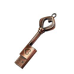 FeliSun USB 3.0 Speicherstick USB-Flash-Laufwerk USB 3.0 Metall USB Stick Externer Speicher Hochzeitsgeschenke (16GB, Schlüssel)