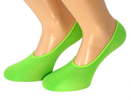Unbekannt Damen Füßlinge Neonfarben, Größe:One Size, Farben alle:neongrün