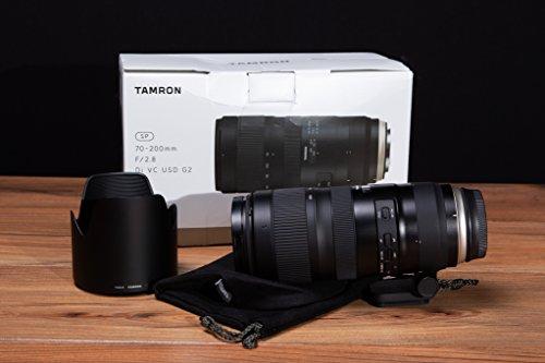 Tamron SP 70-200 mm F/2.8 Di VC USD G2 - Objetivo para Canon (estabilizador óptico VC en Tres Modos, Sensor Full Frame 24 x 36, AF USD, Dos Lentes XLD, SP) Negro