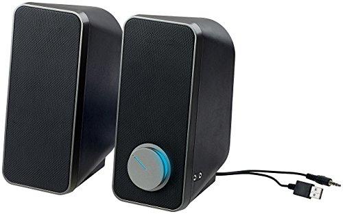 auvisio PC Lautsprecher: Stereo-Lautsprecher mit USB-Stromversorgung, 24 Watt, 3,5-mm-Klinke (Lautsprecher Klinke ohne Strom)