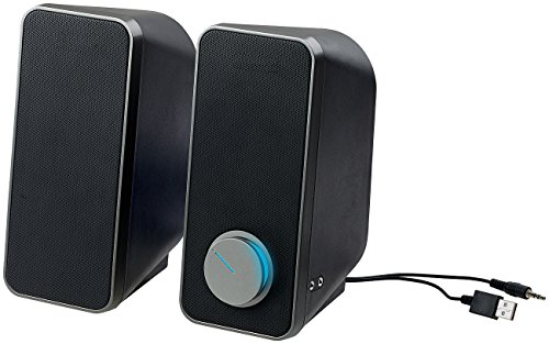 auvisio Lautsprecher ohne Strom: Stereo-Lautsprecher mit USB-Stromversorgung, 24 Watt, 3,5-mm-Klinke (Lautsprecher Klinke ohne Strom)