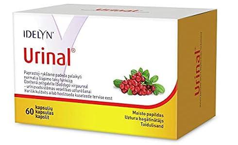 Las cápsulas de URINAL 60 - ayuda al buen funcionamiento del tracto urinario - contienen el ingrediente activo, jugo concentrado de arándano en polvo, muy alto en proantocianidinas de arándano