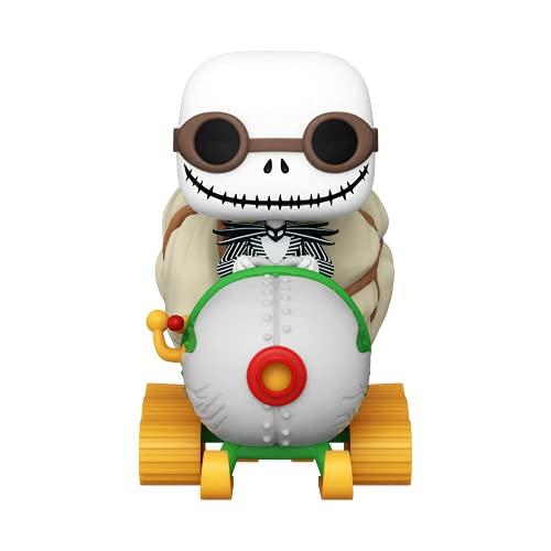 Funko- Pop Disney Ride: The Nightmare Before Christmas-Jack w/Goggles & Snowmobile Figura da Collezione, Multicolore, 49146