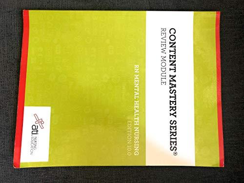 Content Mastery Series RN mental health nursing Edition 10.0 9781565335707