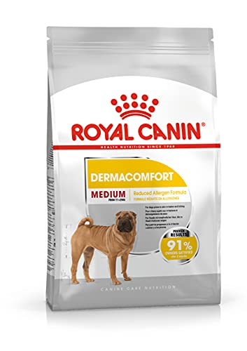 Royal Canin Medium Dermacomfort 24, 1er Pack (1 x 10 kg Packung) - Hundefutter