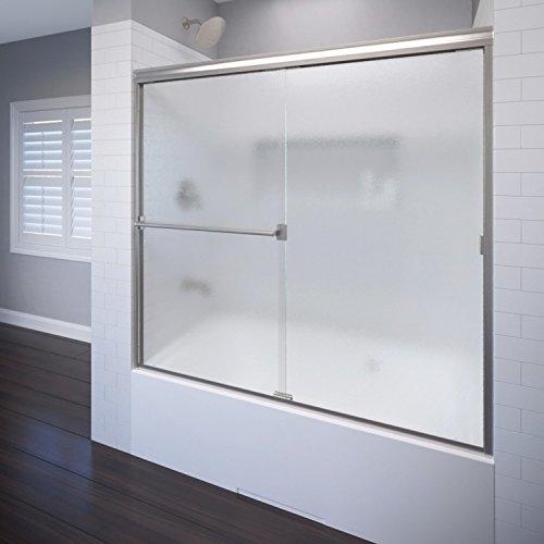 Basco Classic Tub Door A0043-60OBBN Classic sliding bathtub shower door, Brushed Nickel