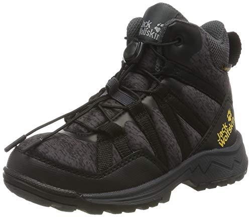 Jack Wolfskin THUNDERBOLT TEXAPORE MID K Wasserdicht Trekking- & Wanderstiefel Unisex-Kinder, Schwarz (Black/Dark Grey 6072), 29 EU