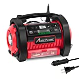 Avid Power Tire Inflator Air Compressor, 12V DC / 110V AC Dual Power Tire Pump with Inflation and Deflation...