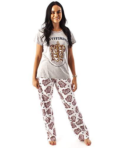 Harry Potter Pyjamas Femmes Gryffondor House Crest Ladies Top Pyjama Set Large