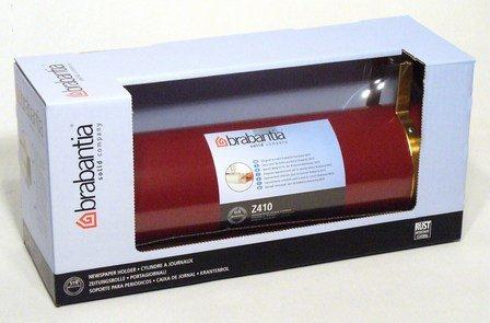 brabantia Z410 - Zeitungsrolle Weinrot feuerverzinkt mit wetterbeständiger Polyesterbeschichtung