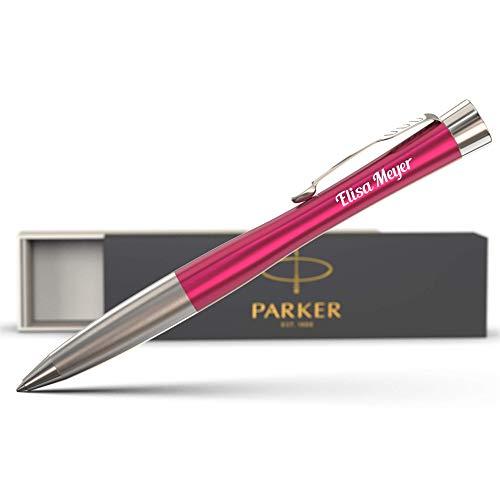 Parker Urban Kugelschreiber mit Gravur - bestandene Prüfung Geschenk - blauschreibend - tolles individuelles Geschenk mit Namen - personalisierte Kugelschreiber