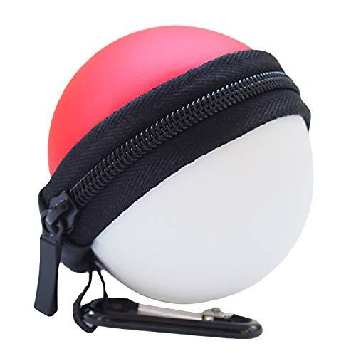 Estuche de transporte para Nintendo Switch Poke Ball Plus Controller, Estuche de Hikfly Travel Pokeball Bolsa protectora portátiles para Pokémon Lets Go Pikachu Eevee Game (Red & White)