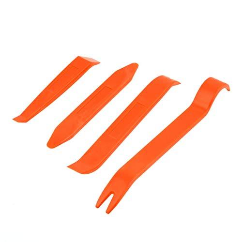 healthwen Autoradio Pannello Porta Clip Pannello Trim Dash rimozione Audio installatore Leva Riparazione Strumento Set 4 Pezzi Portatile Pratico