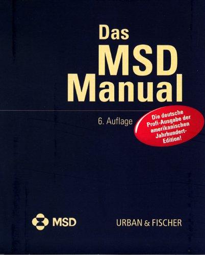 Preisvergleich Produktbild MSD- Manual. CD- ROM Version 6.0.