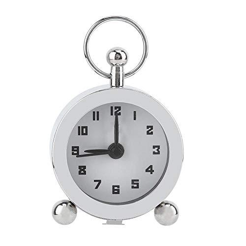 AUNMAS Mini Reloj Despertador Retro Mecánico Manual Cuerda para Arriba Reloj de Metal Silencioso Despertador Suave Reloj Digital para Habitaciones Administración de Tiempo Durmientes Pesados 商品名称