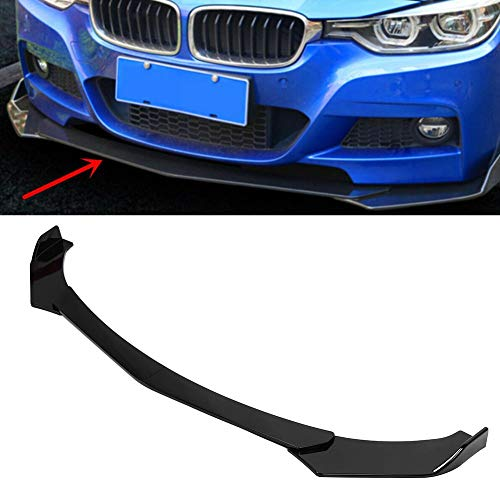 Front Bumper Lip Kit, Universal Car Front Bumper Spoiler Splitter Body Kit Side Skirt Front Bumper Protector Guard Scratch-Resistant fits for Toyot Glossy Black