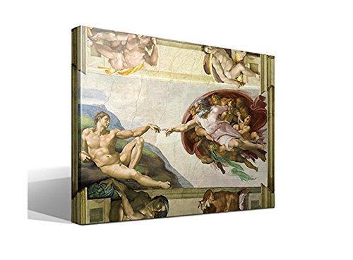 Cuadro Canvas La Creación de Adán de Miguel Angel - 40cm x 55cm