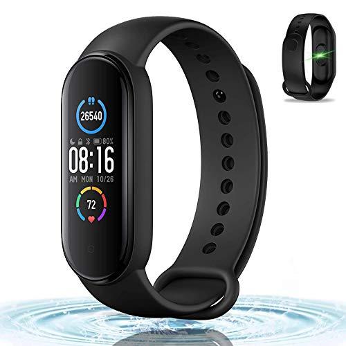 Smartwatch, Pulsera De Fitness con Control De La Actividad del Ritmo Cardíaco, Oxígeno En Sangre, Control del Sueño, Termómetro, Podómetro, Calorías, Disponible para Teléfonos iPhone/Android