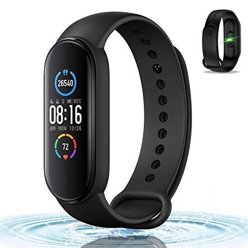 High-End Fitness Trackers, Activity Trackers Health Exercise Watch with Heart Rate and Sleep Monitor, Smart Band Calorie Counter, Step Counter, Pedometer Walking for Men Women