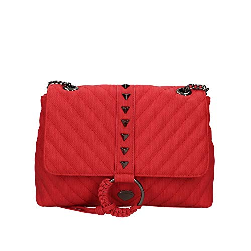 Le Pandorine Borsa a Spalla Vicky Small Canvas Colore Rosso PE20DAV02501