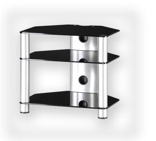 Sonorous RX2130 svart glas och silver aluminium Hi-Fi separat hylla