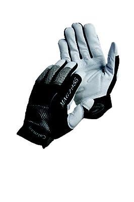 Caiman 2955-4 Medium Goat Grain Leather Multi Activity Glove, Pearl and Black