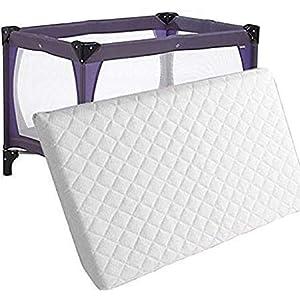 EASE N COMFORT – Colchón de espuma para cuna de viaje (95 x 65 x 5 cm)