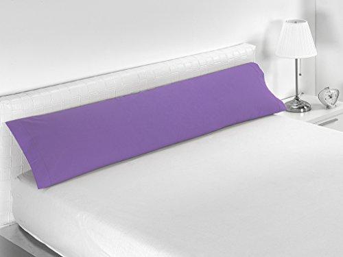 Sabanalia Combina - Funda de almohada (disponible en varios tamaños), Cama 90 - 110 x 45, Lila