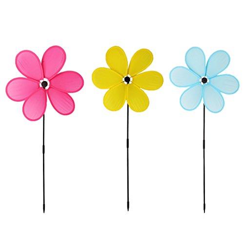 WOXIWANNI adornos de jardín – decoraciones de jardín – Molino de viento juguetes para niños decoración de jardín adorno colorido al aire libre Spinner