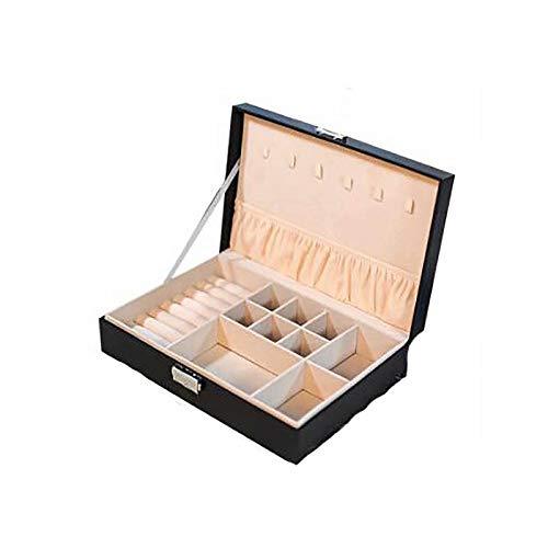 CHENSQ Caja de almacenamiento para pendientes, collares, taquillas, con regalos para niñas y mujeres