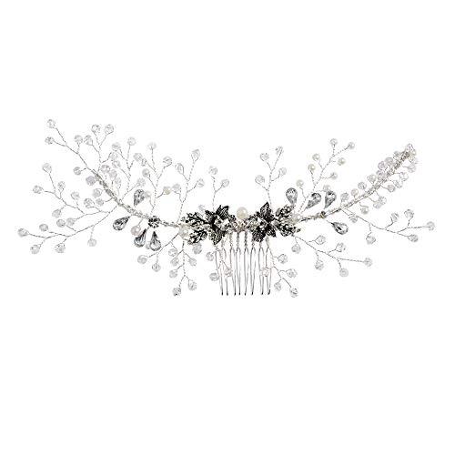 ULAPAN Hochzeit Braut Haarschmuck, Braut Stirnband,Hochzeit Haarstücke,Haarband,Haarstift,Haarkamm (HP02) …