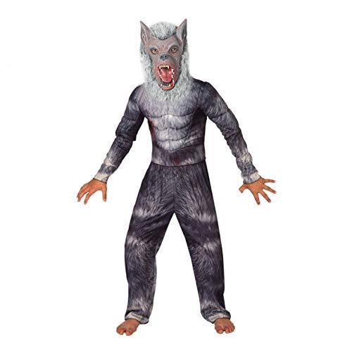Disfraz Deluxe de Hombre Lobo para niños. Disfraz de Lobo de Calidad para Chico, Talla M (de 6 a 8 años)