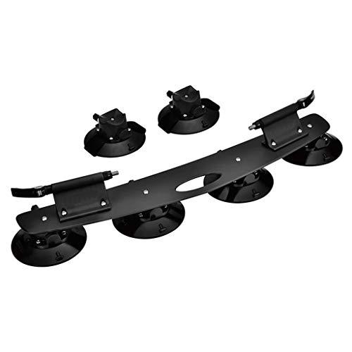 YYDE Fahrradständer, Saugnapf Dachfahrradträger für Auto-Dach-Sucker Fahrradträger Quick Release Aluminiumlegierung Dachträger für 2 Fahrräder, Sucker,1
