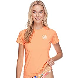 Body Glove Women's Smoothies In Motion Solid Short Sleeve Rashguard