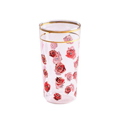 SELETTI TOILETPAPER Bicchieri in Vetro borosilicato, Rose
