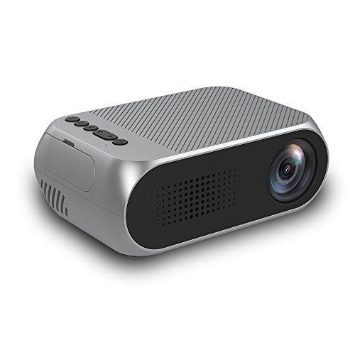 ZXCVASDF LED Mini Proyector, La Ayuda 1080P, Compatible con USB HDMI AV MXN TF, Cine En Casa Portátil, Acampar Al Aire Libre, Puede Utilizar Móvil De Alimentación para Cargar