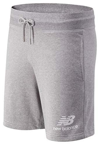 New Balance MS03558 Pantalón Corto Deportivo para Hombre, Gris, Talla: M