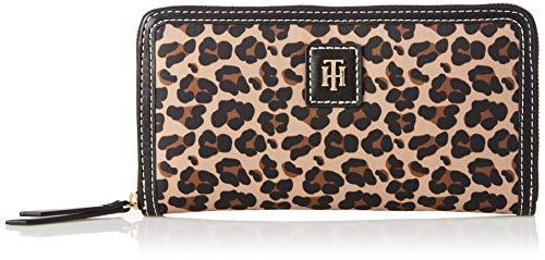 Tommy Hilfiger Women's Julia Large Nylon Zip Wallet, Black/Multi