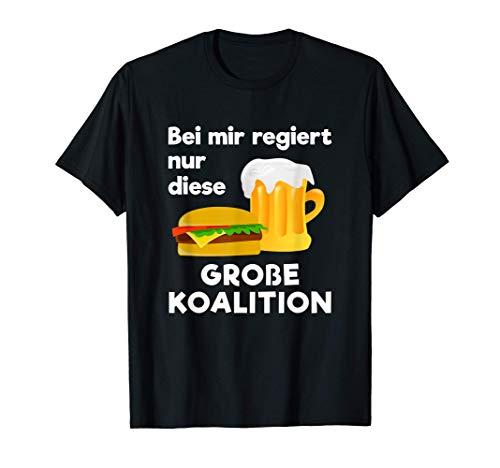 GROSSE KOALITION | Burger Bier Spaß Politik | Lustiges GroKo T-Shirt