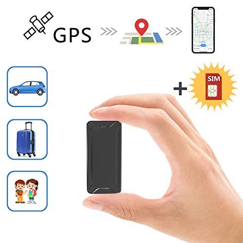 Toptellite Mini Localizador gps para coche , Posición en tiempo real Antirrobo GPS Localizador recargable GPS Tracker para Vehículos/niños magnético Standby App /Tarjeta Sim No Incluida