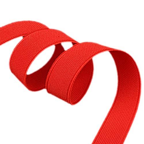 ModeFan Knit Elastic 1/2 inch Wide Red Heavy Stretch High Elasticity Elastic Band 17 Yards Long