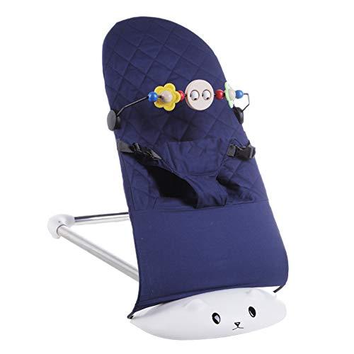 SXFYMWY Sedia A Dondolo Pieghevole Multifunzione Confortevole Antiscivolo Portatile Sedia A Dondolo Adatto Per Neonati, Blu, A
